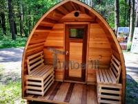 Sauna extérieur iglu design cèdre rouge