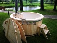 Bain à remous extérieur avec chauffe-eau tuba