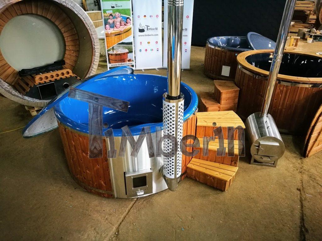 Jacuzzi extérieur jacuzzi bain à remous pour 6-8 personnes avec chauffage au bois intégré