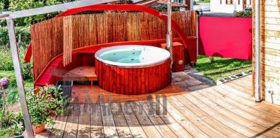 Projet de bain en remous extérieur réalisé en Allemagne