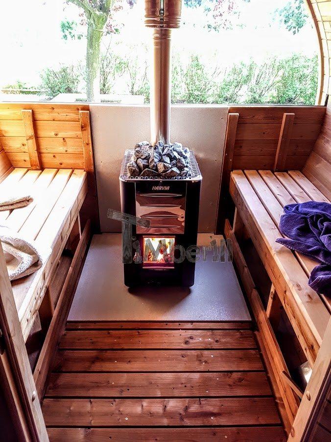 chauffage au bois harvia m3 sauna extérieur