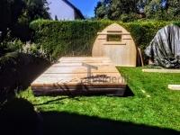 Sauna extérieur en KIT - les mures