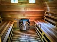 Jardin Extérieur Sauna En Bois Cèdre Rouge Avec Chauffage électrique Et Porche
