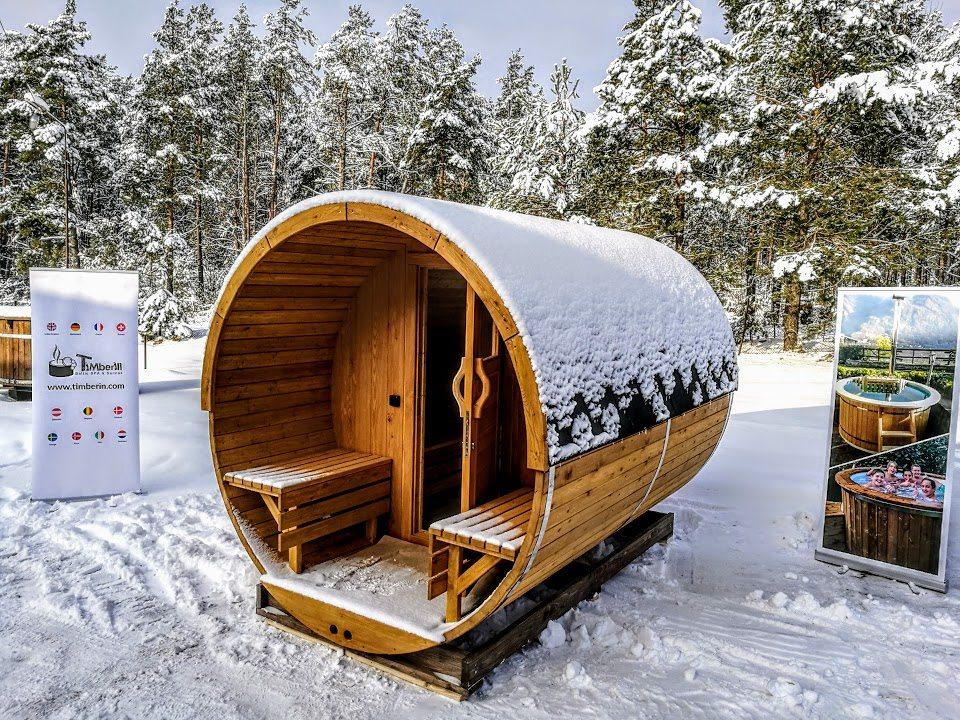 sauna ext rieur en bois sauna jardin sauna tonneau. Black Bedroom Furniture Sets. Home Design Ideas