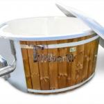 Bain nordique en fibre de verre thermo bois Royal