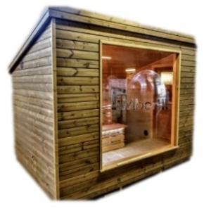 Sauna exterieur moderne cabine